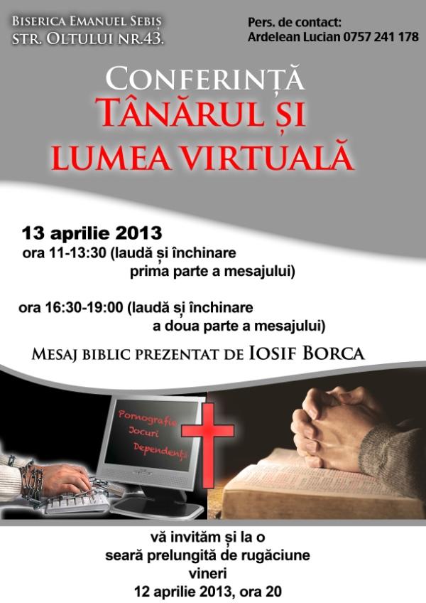 Conferinţă la biserica penticostală Emanuel Sebiş Arad