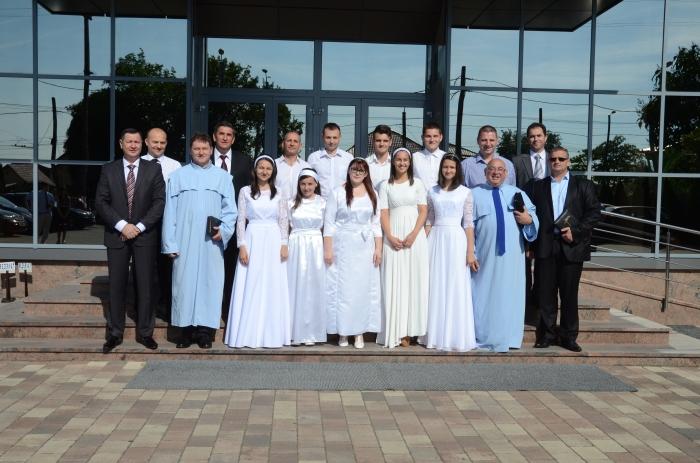 """Fotografii botez biserica penticostală """"Micălaca"""" Arad 15 iunie 2014"""