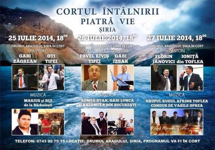 Cortul Întâlnirii Şiria Arad 2014