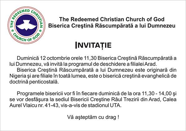 Biserica Creștină Răscumpărată a lui Dumnezeu Arad
