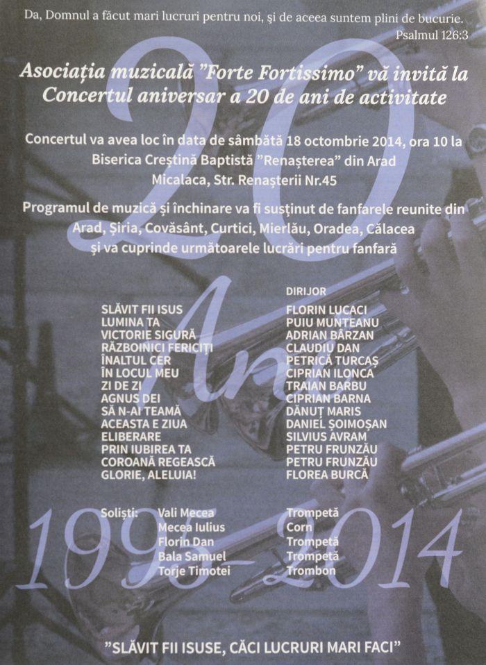Concert aniversar AsociatiaForte Fortissimo