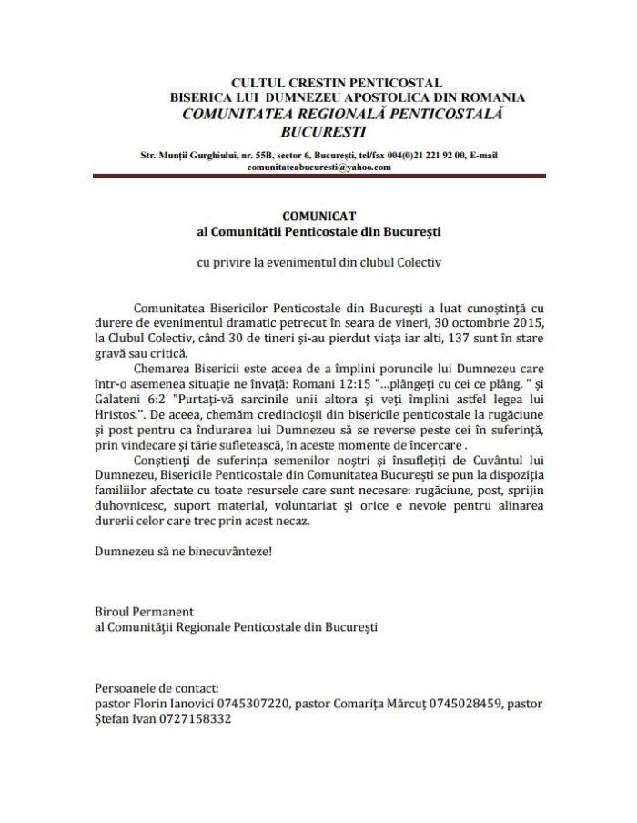 Comunicat C C P R Nov 2015
