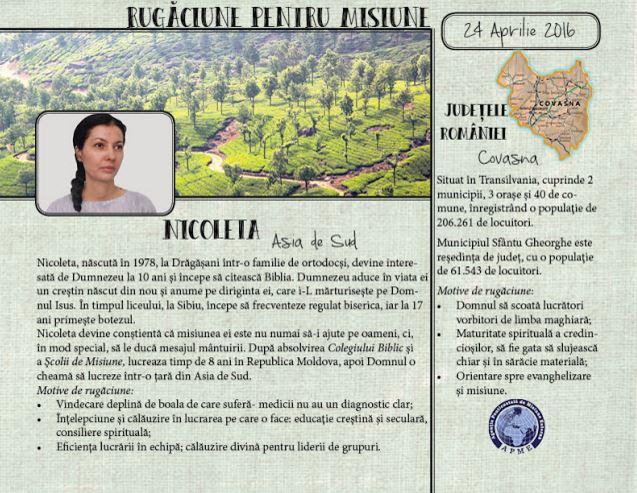 APME România - Rugăciune pentru misiune Nicoleta și Județul Covasna