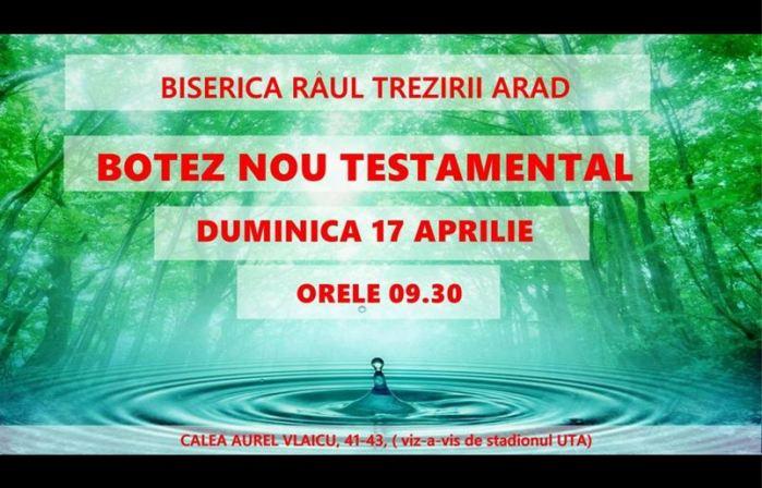 Botez Râul Trezirii Arad Aprilie 2016