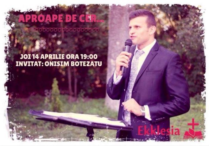 Onisim Botezatu 14 Aprilie 2016 Ekklesia Arad