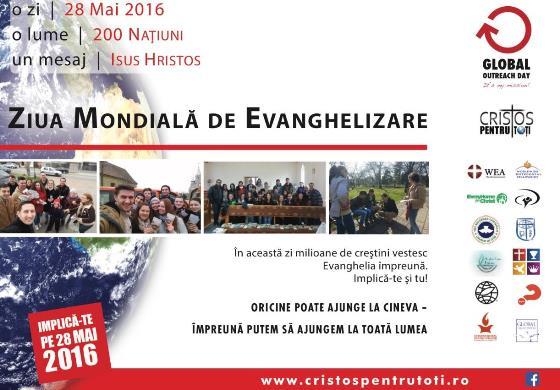 Ziua mondială de evanghelizare 28 Mai 2016