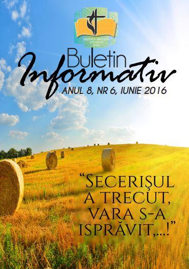 Buletin Informativ Speranța Arad Iunie 2016