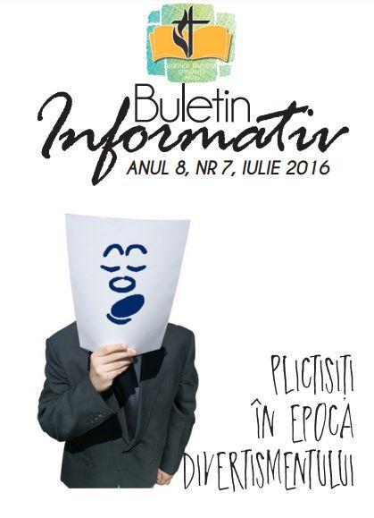 Buletin informativ Speranța Arad Iulie 2016