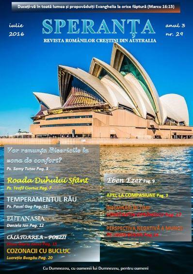 Revista Speranța Australia Iulie 2016