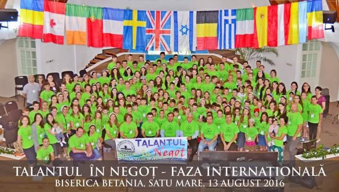 Fotografie grup Talantul în negoț faza internațională Satu Mare 2016