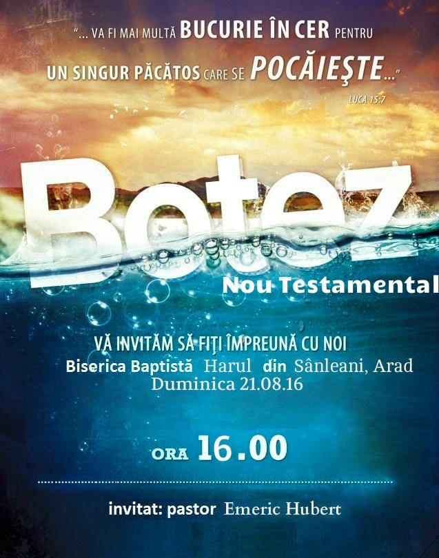 Botez în apă Sânleani 21 August 2016